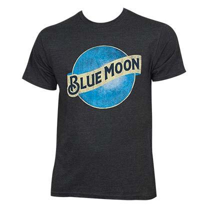 Blue Moon Vintage Moon Logo Gray Tshirt