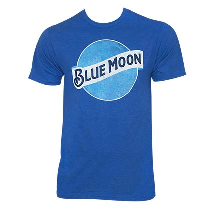 Blue Moon Men's Royal Heather Beer Logo T-Shirt