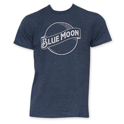 Blue Moon Men's Navy Blue Beer Logo T-Shirt