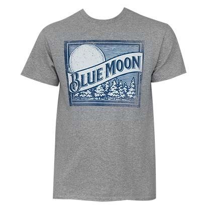 Blue Moon Men's Grey Logo T-Shirt
