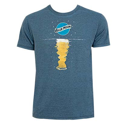 Blue Moon Navy Blue Moonrise Tee Shirt