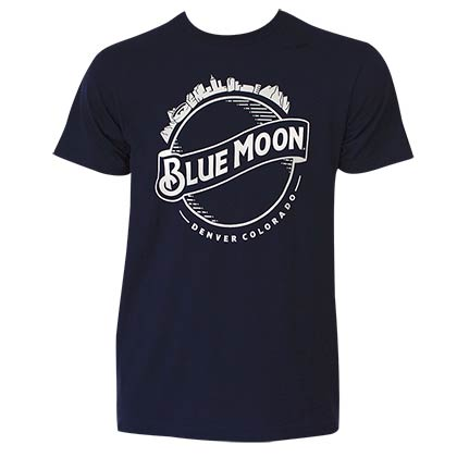 Blue Moon Men's Navy Blue Skyline T-Shirt