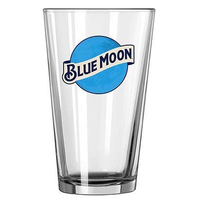 Blue Moon Beer Pint Glass