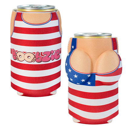 USA All America Betsy Boobzie Beer Can Cooler