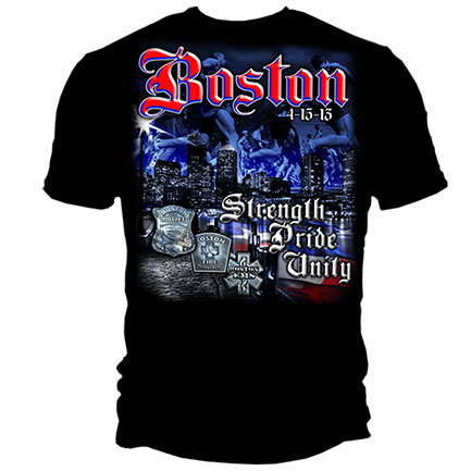 Boston First Responders Unity Tee Shirt - Black