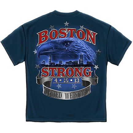 Boston Strong United We Stand Tee Shirt - Blue