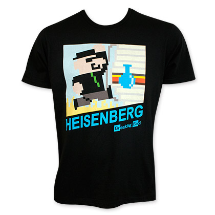 Breaking Bad Men's Black Pixel Heisenberg Tee Shirt