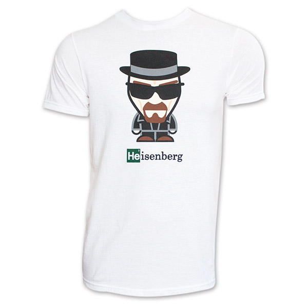 Breaking Bad Cartoon Heisenberg T Shirt - White