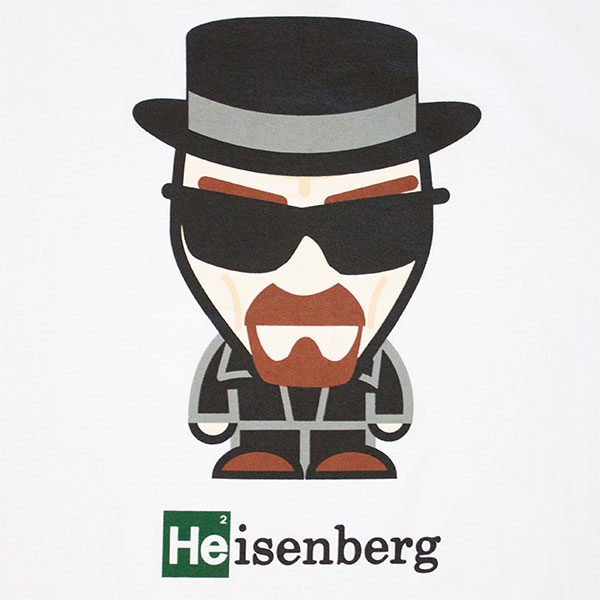 Cartoon Breaking Bad Tee White