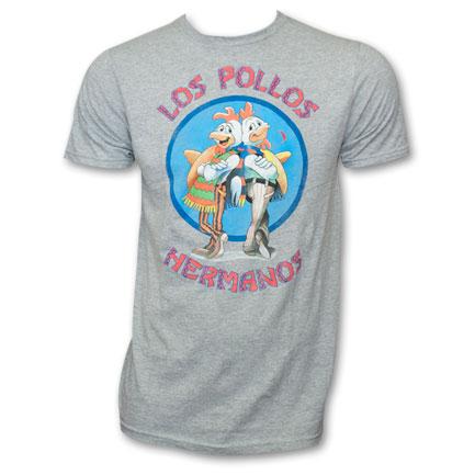 Breaking Bad Los Pollos Hermanos T-Shirt - Grey
