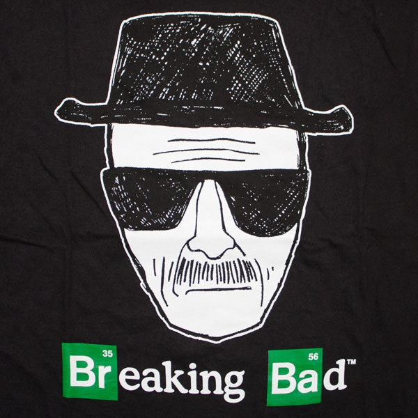 Breaking Bad Sketch Face T-Shirt - Black