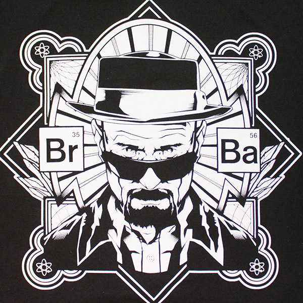 Breaking Bad Portrait Tee Shirt Black
