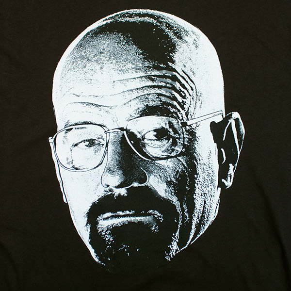 Breaking Bad Large Walter White Photo Tee - Black