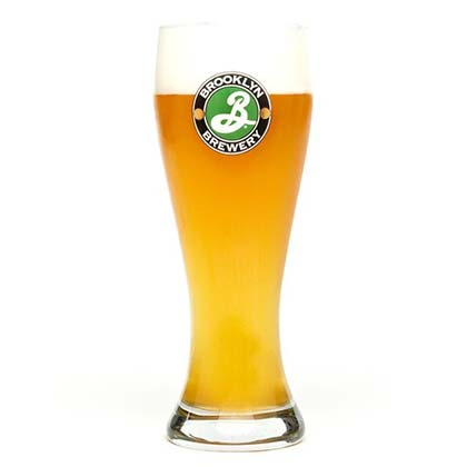 Brooklyn Brewery Logo Weisse Glass