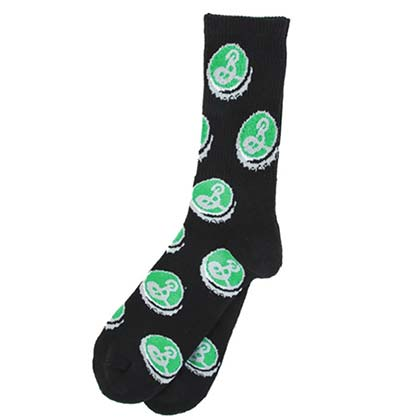 Brooklyn Brewery Men's Black Crew Socks