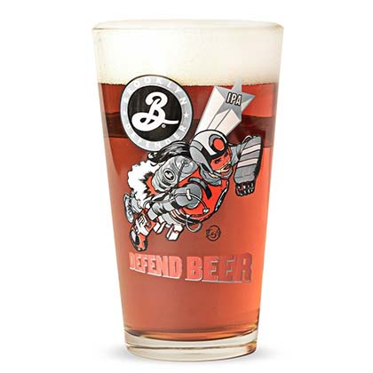 Brooklyn Brewery Defend Beer Logo Pint Glass