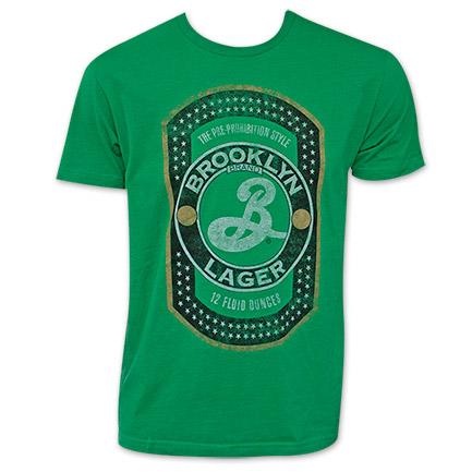Men's Green Brooklyn Lager T-Shirt