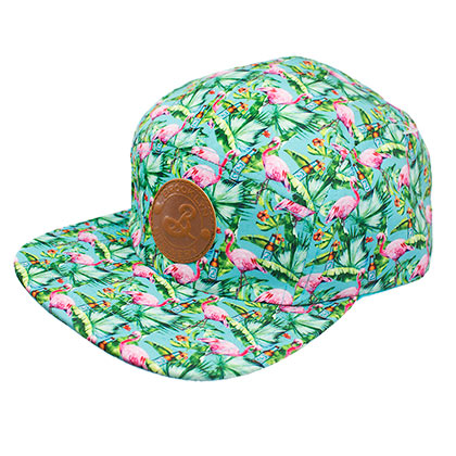 Brooklyn Brewery Green 5 Panel Flamingo Hat