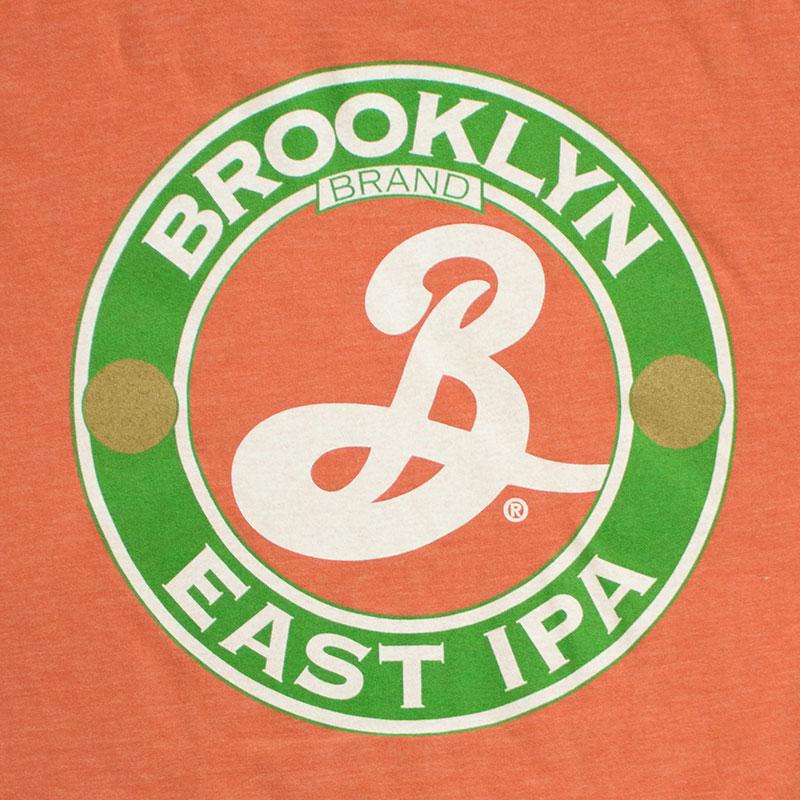 Brooklyn Men's Orange East IPA Tee Shirt