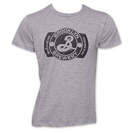 Brooklyn Brewery Logo TShirt - Gray