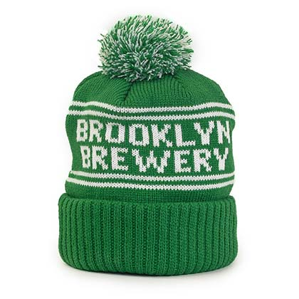 Brooklyn Brewery Green Winter Pom Hat