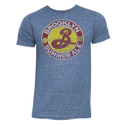 Men's Brooklyn Brewery Summer Ale Heather Blue T-Shirt