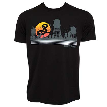 Brooklyn Brewery Sunset Water Towers Men's Black TShirt