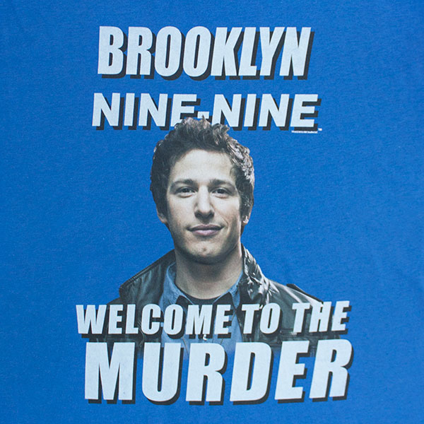Brooklyn Nine-Nine Blue Welcome To The Murder Tee Shirt