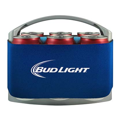 Bud Light Beer 6 Pack Cooler