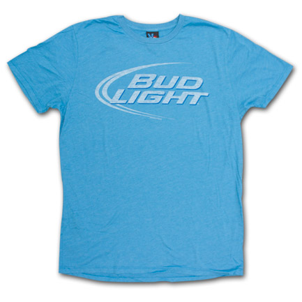 Bud Light Junk Food Brand Vintage Logo Shirt