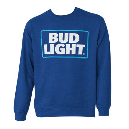 Bud Light Logo Crewneck Navy Sweatshirt