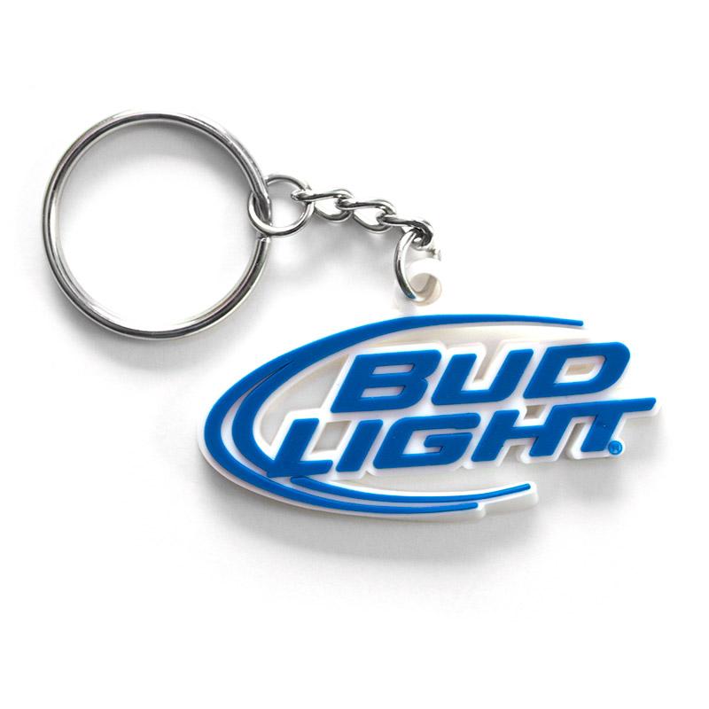 Bud Light Rubber Beer Logo Keychain