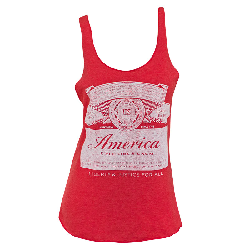 Budweiser America Label Racer Women's Red Tank Top