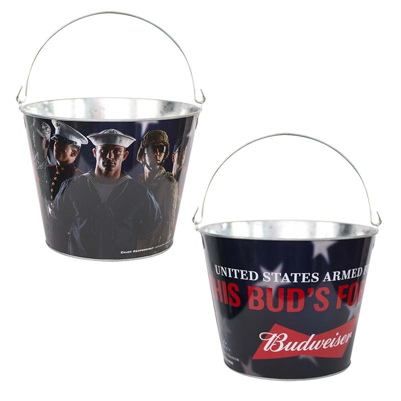 Budweiser This Buds For You Metal Ice Bucket