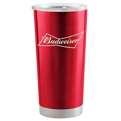 Budweiser Red 20 Oz Metal Tumbler Cup
