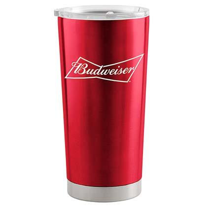 Budweiser 20 Oz Metal Tumbler Cup
