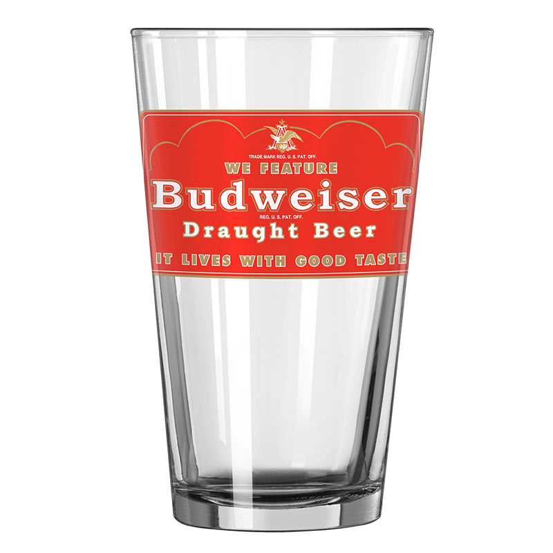 Budweiser We Feature Draught Beer Pint Glass
