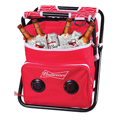 Budweiser Cooler Folding Chair With Built-In Speakers