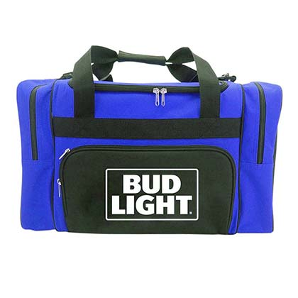 Bud Light Blue Duffle Bag Cooler