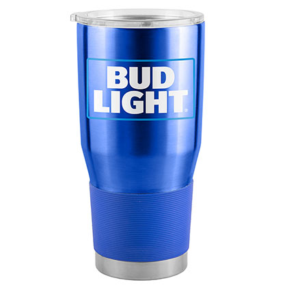 Bud Light Blue 30 Oz Metal Tumbler Cup