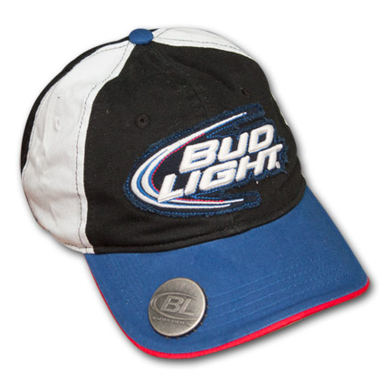 Bud Light Snapback Hat with Built-in Bottle Opener