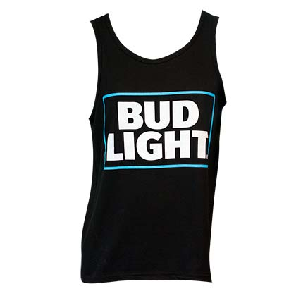 Men's Bud Light Beer Black Tank Top