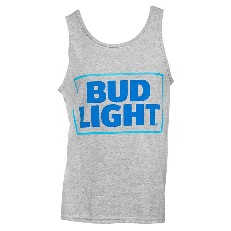 Men's Bud Light Beer Grey Tank Top