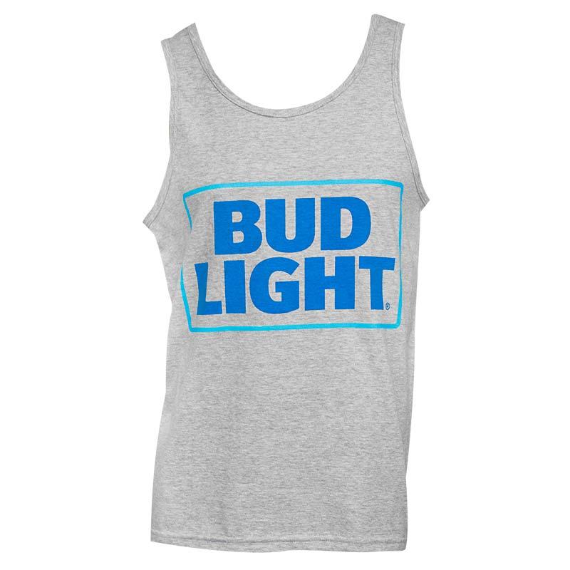 Men's Bud Light Grey Tank Top