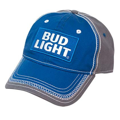Bud Light Washed Blue Adjustable Hat