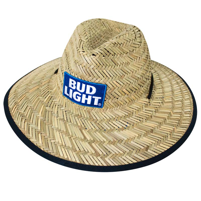 Bud Light Natural Straw Life Guard Hat