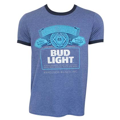 Bud Light Ringer Tee Shirt
