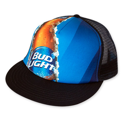 Bud Light Photo Mesh Trucker Hat