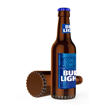 Bud Light Bottle Bluetooth Speaker