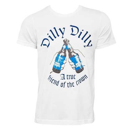 Bud Light Dilly Dilly Friend Of The Crown White Tee Shirt